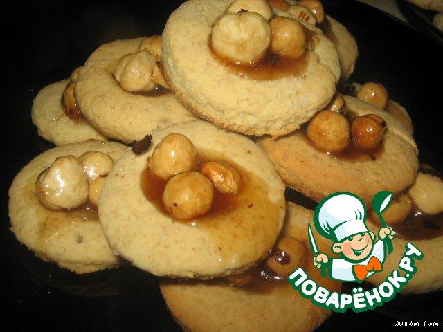 """Медово-овсяное печенье """"Три орешка"""""""