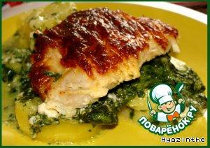 Рыба с овощами под сырным соусом в аэрогриле – кулинарный рецепт