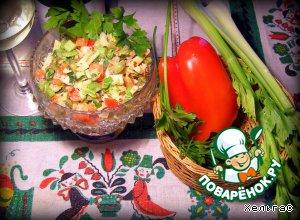 Салат из сельдерея, индейки и яблока – кулинарный рецепт