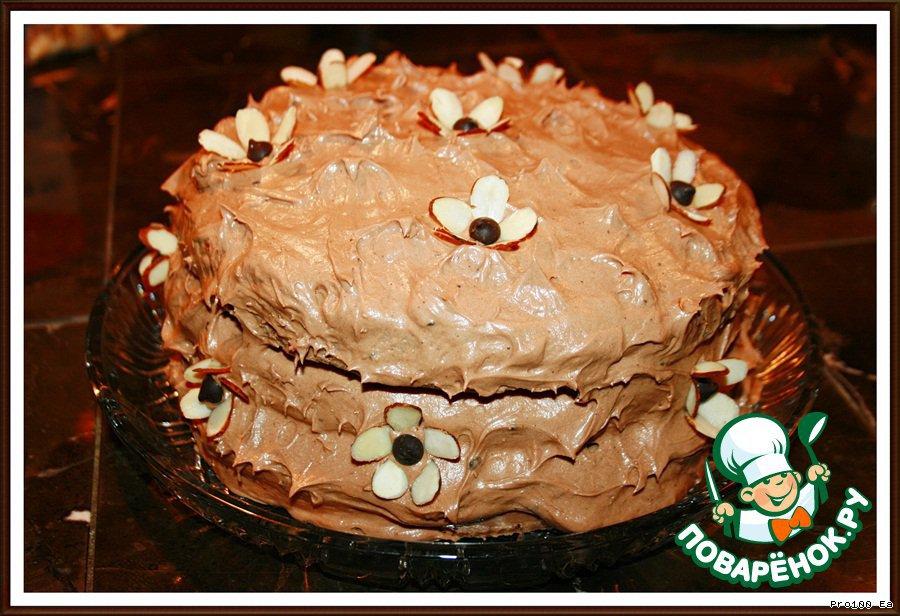 Миндальный торт с цветочками