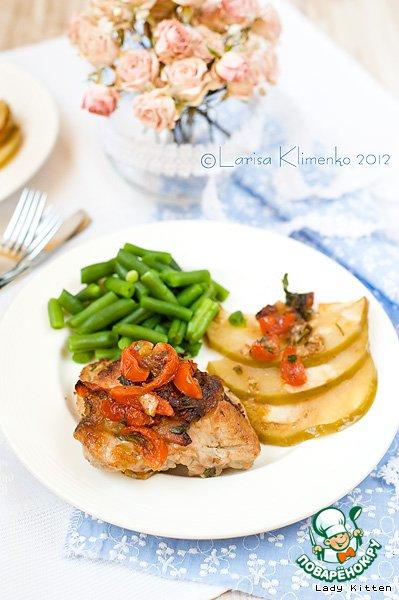 Свиные котлеты с беконом и моцареллой – кулинарный рецепт