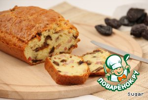 Закусочный кекс с грудинкой и черносливом – кулинарный рецепт