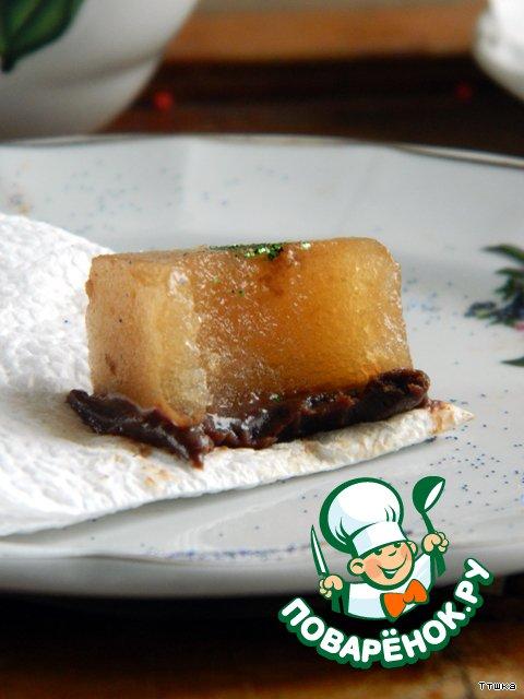 Грушевое мармеле с шоколадом