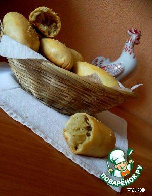 Пирожки с начинкой из чечевицы и риса – кулинарный рецепт
