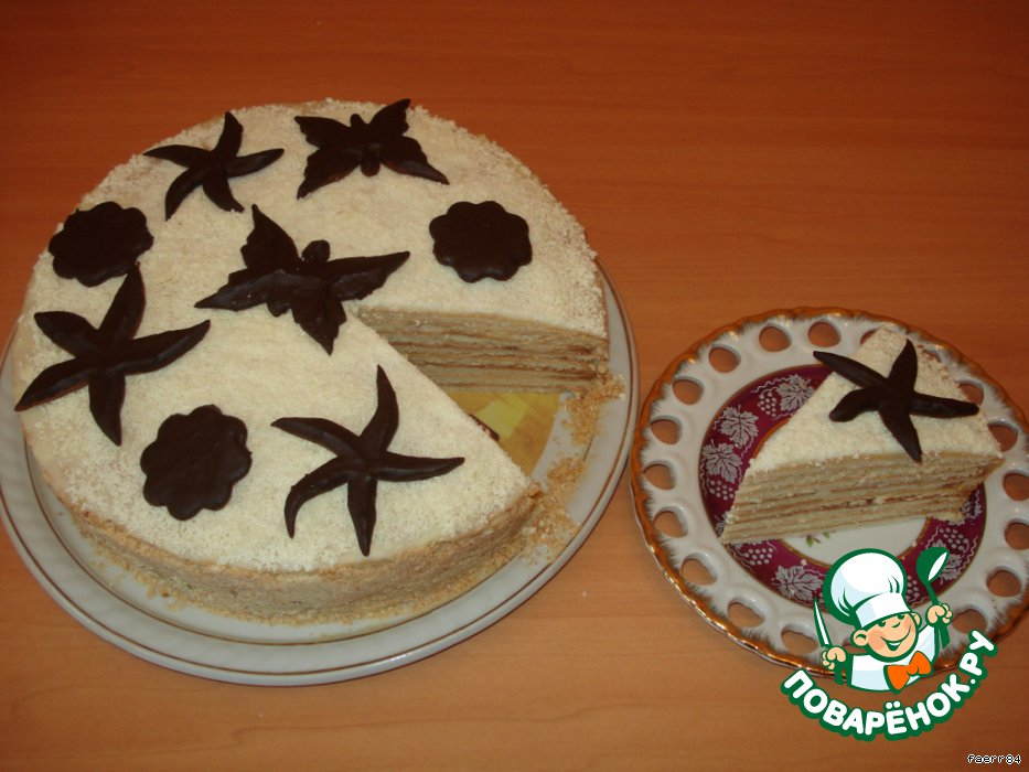 Торт Сливочный поцелуй