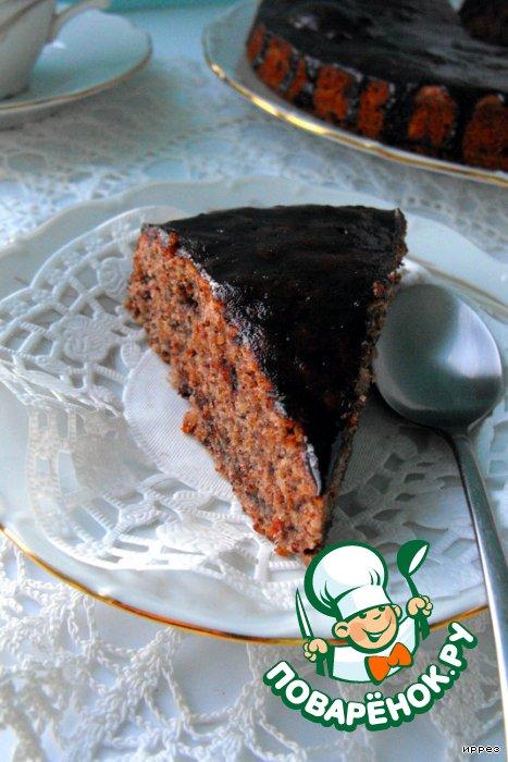 Тройной шоколадный торт