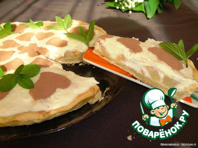Грушевый тарт с творожно-манным кремом