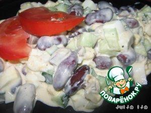 """Салат """"Фасолевое сердце"""" – кулинарный рецепт"""