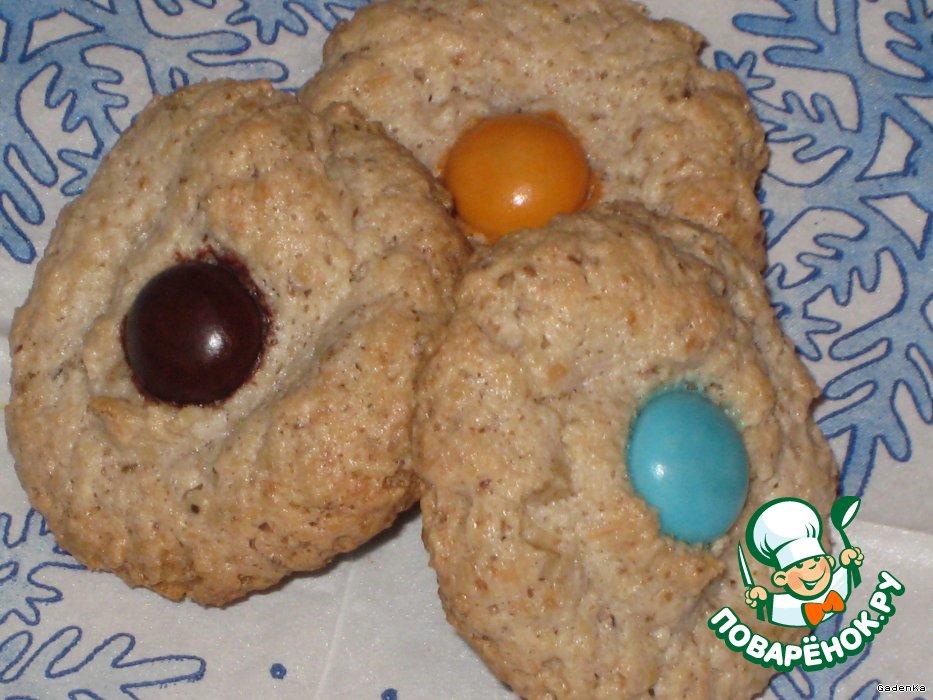 Печенье орехово-кокосовое