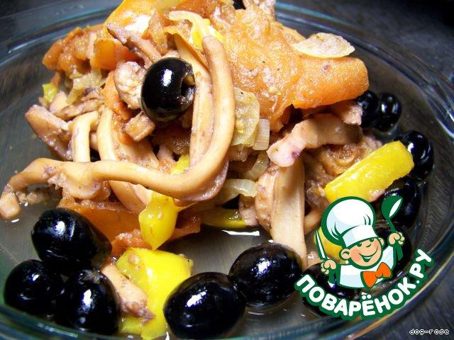 """Кальмары """"Оливковые"""" – кулинарный рецепт"""
