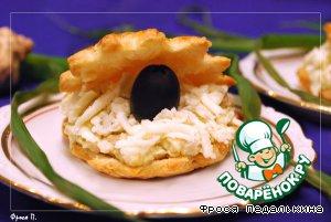 Волованы из слоеного теста с морским жульеном, пошаговый рецепт с фото