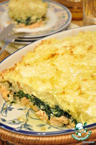 """Запеканка из семги """"Праздничная"""" – кулинарный рецепт"""