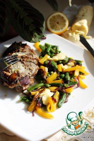 Баранина с имбирным маслом и рататуем из зимних овощей – кулинарный рецепт