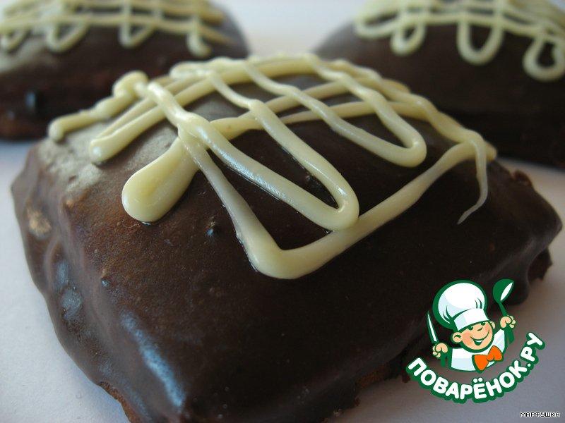 Шоколадные пряники с начинкой