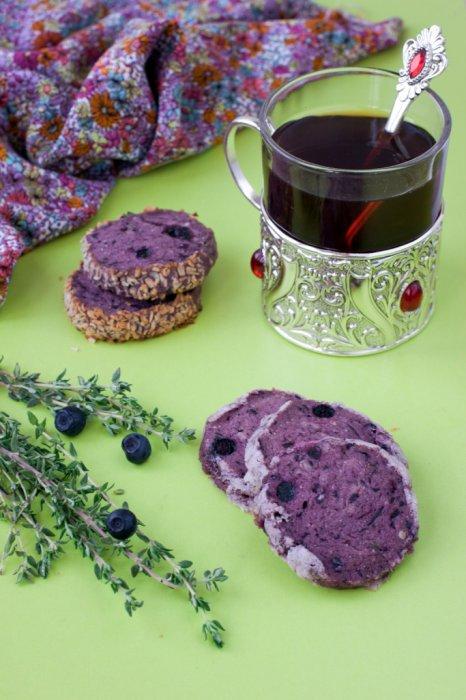 Черничное печенье с тимьяном