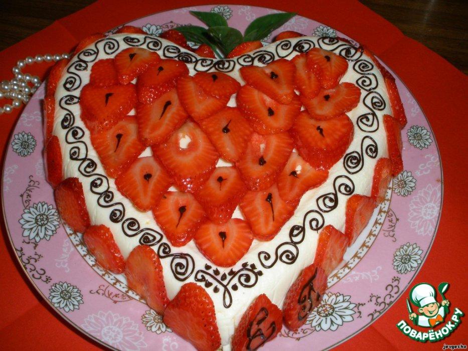 Сливочно-йогуртовый желейный торт