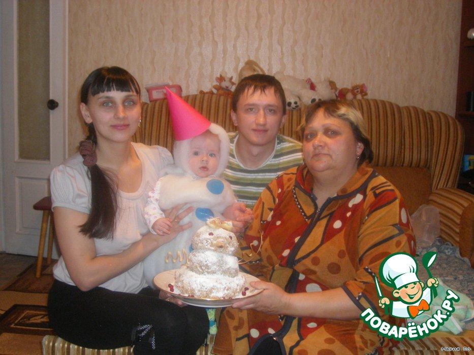 Торт Наш снеговик
