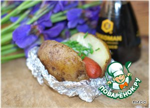 Хот-дог в картошке – кулинарный рецепт