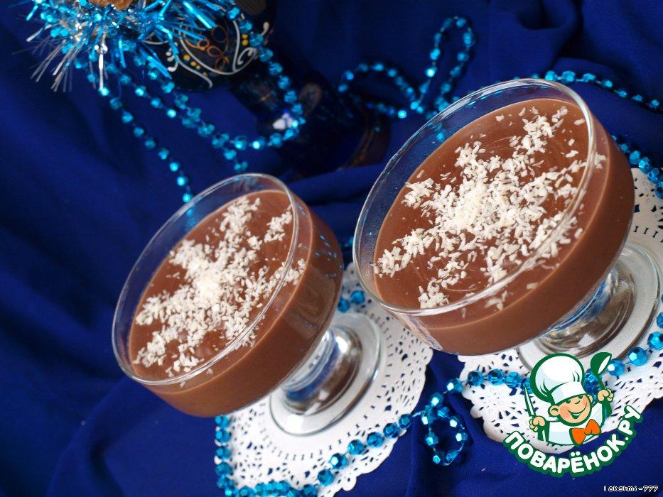 Новогодний десерт из конфет Снежинки