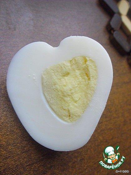 """Варeное яйцо """"Сердце"""" – кулинарный рецепт"""