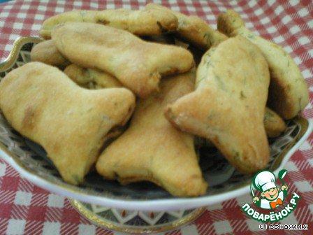 Печенье с лососем и укропом