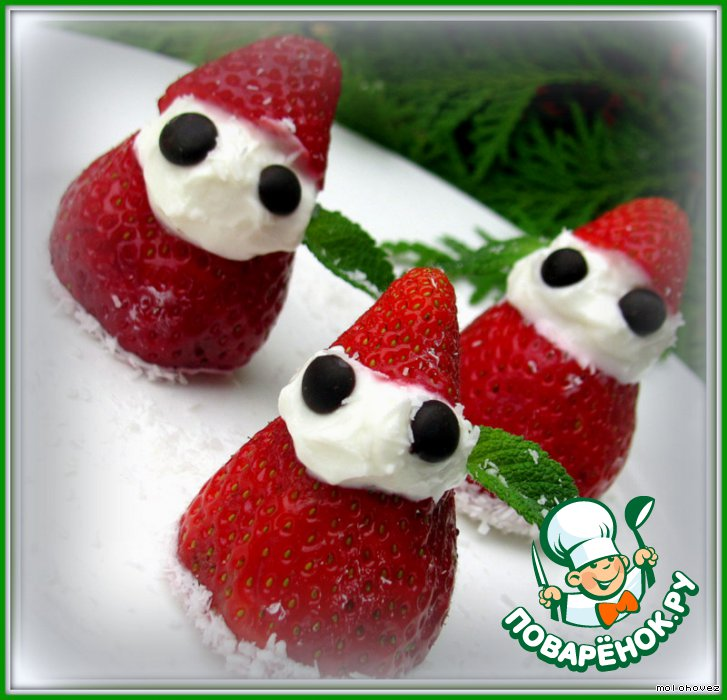 Десерт Нашествие клубничных Санта-Клаусов