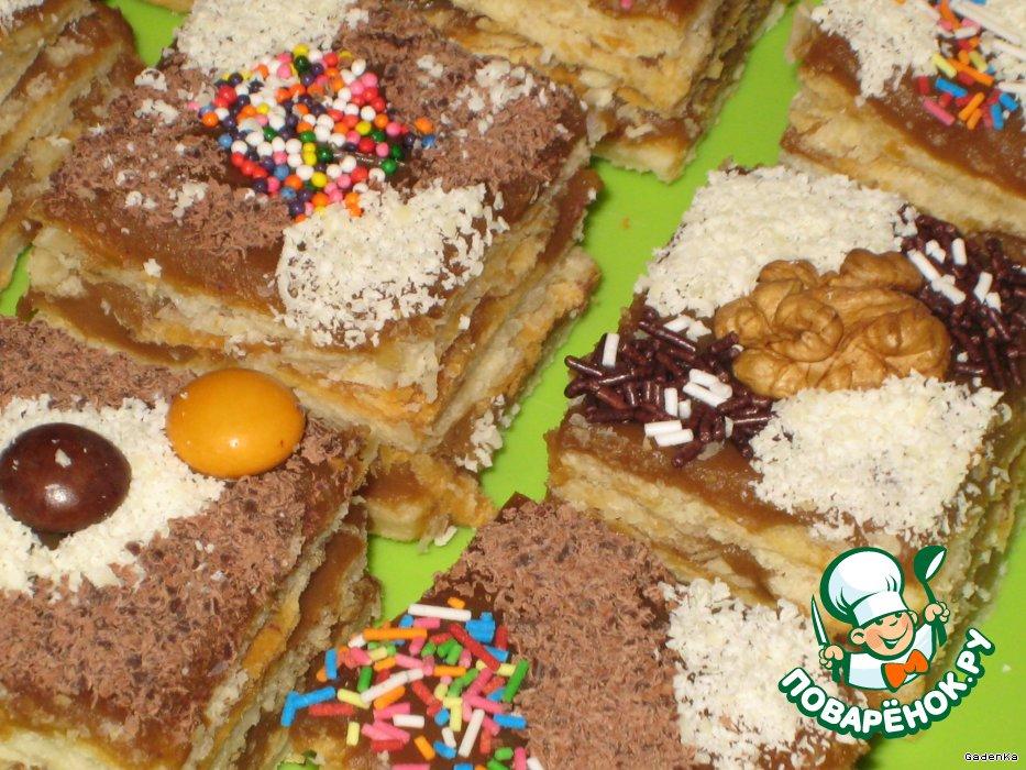 Пирожное «Карамельные кофеманчики»