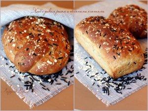 Хлеб с диким рисом и овсяными хлопьями – кулинарный рецепт