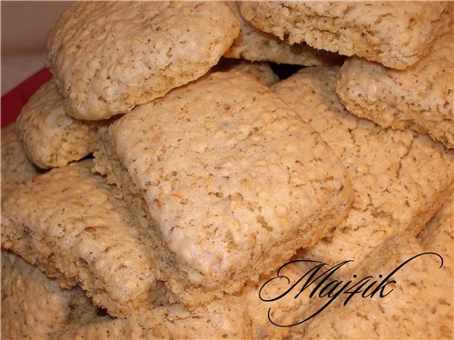 Сладкое печенье с кунжутом